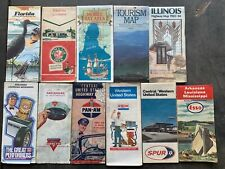 New ListingVintage maps some with oil logo's lot of 11 1951-84/?