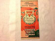 New ListingVintage 1920s Travel South Dakota with Conoco Travel Bureau Road Map