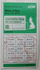 1985 old vintage OS Ordnance Survey Pathfinder 1:25000 map Water of Ken NX 69/79
