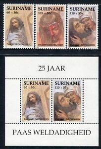 Surinam1991 Ostern Easter 1358-1360 + Block 55 Postfrisch MNH