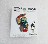1996 ATLANTA Olympic Games Pin - IZZY the Mascot walking with Torch cutout