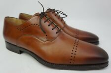 Magnanni Cedric Leather Brown Oxford Men's Shoes Size 10.5 M