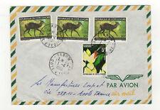 République de Côte-d'Ivoire 4 timbres sur lettre 1980 tampon Tabou /L7