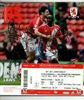 Multi Signed Programme Middlesbrough V Wolves Plus Ticket