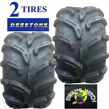 2) 25x12.00-9 ATV TIREs 25/12.00-9 25x12-9 25/12-9 Deestone Swamp Witch 6ply
