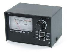 100W CB Radio SWR Power Meter & RG58 PL259 Patch Lead