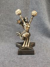 Rst506 Cheerleading statue trophy resin gold star base