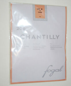 NWT Fogal Chantilly Nude Sheer Gartertop Thigh High Stockings Color Charme sz M