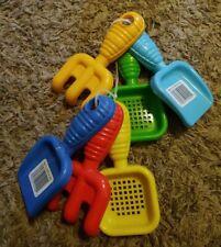 2 Infant Garden Plastic Tool Sets of a Rake, Shovel & Sifter Ages 1/2+