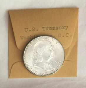 Uncirculated 1963 D Franklin Half Dollar From U S Treasury Dept Cash Room