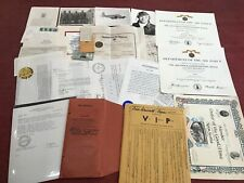 WW2/ Korea / …. Grouping / Ensemble de documents ayant appartenu à Emery . R . J