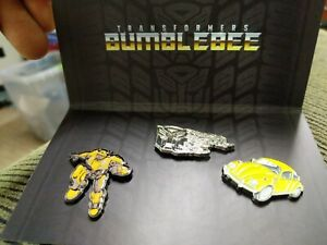 Loot Crate Transformers BumbleBee Movie Pin Set New Sealed Bumble Bee Exclusive