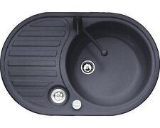 Eurodomo Eurostone Einbauspüle Spüle Spühle Küchenspüle Single 2 Graphit Excentr