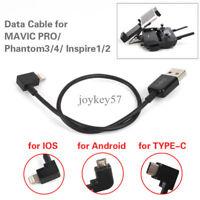 Remote Control Transmitter Data Cable for DJI Spark Mavic Pro Phantom 3 4 Type C