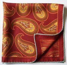 Paisley Suave Seda Bolsillo Cuadrado enrollados a mano/Pañuelo para el cuello 45 Cm