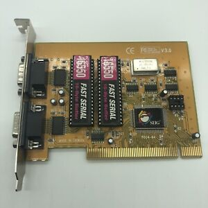 2-Port SIIG UART Dual Profile 16550 Serial RS232 PCI Card Adapter  JJ-P02012