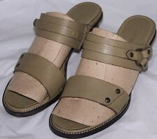 WOMEN SHOES  H.S.TRASK &CO. SANDALS Size  5.5.M Leather  Green  Brazil  New