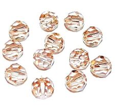 SCR520f CANTALOUPE  Color-Changing Peach Green 8mm Round Swarovski Crystal Beads