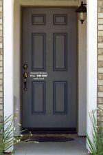 Doorbell broken YELL funny cute Door vinyl decal sticker home decor decoration