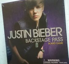 JUSTIN BIEBER BACKSTAGE PASS BOARD GAME 2011 BIEBER NEW SEALED