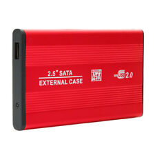 "Brand New 2.5"" SATA USB 2.0 Hard Disk Drive HD HDD CASE Enclosure Case Red US"