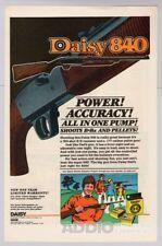 Daisy 840 B-B gun PRINT AD air gun rifle vintage advertisement page BB 1980