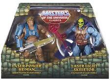 Masters of the Universe Classics- Laser Power He-Man & Laser Light Skeletor -New