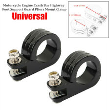 """Motorcycle 1 1/4"""" 32mm Engine Crash Bar Highway Foot Support Guard Mount Clamp"""