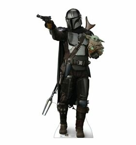 STAR WARS - THE MANDALORIAN WITH CHILD - LIFE SIZE STANDUP/CUTOUT BRAND NEW 3437