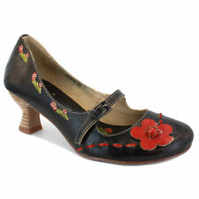 Women's Floral Mary Jane Heels