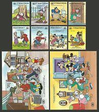 Disney Antiguan & Barbudan Stamps (1981-Now)