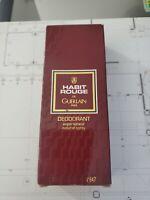 Habit Rouge de Guerlain Paris Deodorant natural spray 3.4 FL oz/used