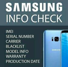 SAMSUNG INFO Check - IMEI / Simlock / Carrier / Blacklist Status