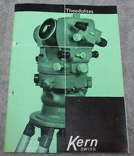 VINTAGE KERN AARAU SURVEYING INSTRUMENTS CATALOG CIRCA 1950'S DKM 1,2,3  & MORE