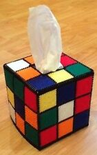 🤧Rubik's Cube Tissue Box Cover, as seen on BBT/Big Bang Theory 😄 Free tissues!