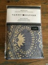 $102 Tommy Hilfiger Broadcove Blue/Tan Euro Pillow Sham