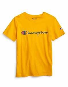 Kids Champion Life Heritage Tee T-Shirt Script Logo Breathable Cotton Boys Girls