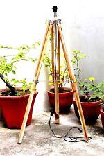 Teak Wood Tripod Lamp Stand Nautical-Marine Lighting Collectible Nautical-Decor