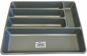 Plastic Kitchen Cutlery Tray Organiser Drawer Insert Tidy Storage Grey