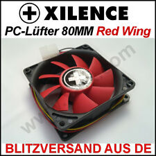 Xilence [] 80mm Red Wing carcasa-ventilador/fan → rojo 8cm, funda pc radiador xpf80