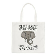 Elephants Never Forget That They Are Amazing Small Tote Bag - Funny