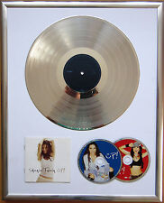 "Shania Twain iconographie encadrée CD COVER +12"" vinyle d'or/platine disque"