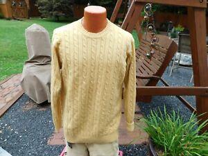 L.L. LL BEAN Lambswool Mens Cable Knit Sweater Size XL TALL