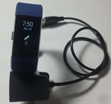 Fitbit Charge 2 Blue (Size Large) Work Great Free Return Shipping