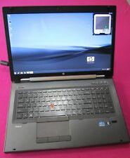 HP 8760w elitebook laptop I5-2540m 2.6-3.3Ghz 12GB ram NEW 500GB M4000M W7 1080