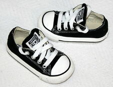 Converse All Star Black Canvas Toddler Infant Lace up Sneakers Size 4 Shoes EUC