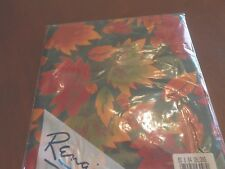 Vintage Tablecloth Autumn Leaves by Renaissance Oblong 60 X 84 Never Opened 1986
