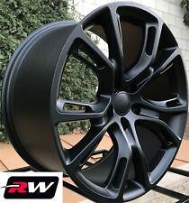 "(4) 20"" RW Wheels for Dodge Durango Matte Black Spider Monkey Style 20x9"" Rims"