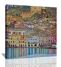 Gustav Klimt Malcena At The Gardasee Canvas Wall Art Picture Print