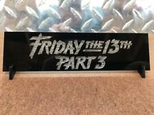 Friday The 13th part 3 Jason Vorhees Prop Display plate plaque for mask